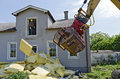 Demolition of a residential house Royalty Free Stock Photo