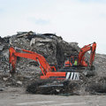Demolition site Royalty Free Stock Photo