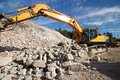 Demolition waste site Royalty Free Stock Photography