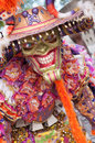 Demon disguise in carnival of Boca Chica 2015 Royalty Free Stock Photo