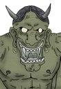 Demon draw Royalty Free Stock Photo