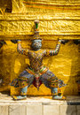 Demon guardian the in temple wat phra kaew grand palace bangkok Royalty Free Stock Image