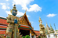 Demon guardian wat phra kaew grand palace bangkok Royalty Free Stock Photos