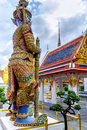 Demon Guardian in Wat Phra Kaew Grand Palace  Bangkok, Thailand Royalty Free Stock Photo