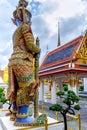 Demon Guardian in Wat Phra Kaew Grand Palace  Bangkok, Thailand Royalty Free Stock Photo