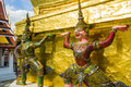 Demon guardians supporting Wat Arun Temple, Bangkok, Thailand Royalty Free Stock Photo