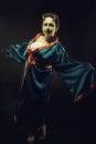 Demon in kimono Royalty Free Stock Photo