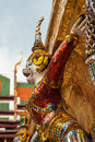 Demon statue at wat phra kaew in grand palace bangkok is decoration of the temple Royalty Free Stock Photos