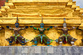Demon Statues at Grand Palace Royalty Free Stock Photo