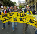 Demonstration Against Nuclear Power, Paris, France Royalty Free Stock Photography