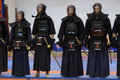 Demonstration of japanese traditional martial arts thessaloniki greece oktober by men and women faculties judo karate aikido kendo Stock Photos