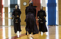 Demonstration of japanese traditional martial arts thessaloniki greece oktober by men and women faculties judo karate aikido kendo Stock Photo