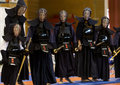 Demonstration of japanese traditional martial arts thessaloniki greece oktober by men and women faculties judo karate aikido kendo Royalty Free Stock Photo