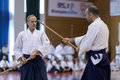 Demonstration of japanese traditional martial arts thessaloniki greece oktober by men and women faculties judo karate aikido kendo Stock Images