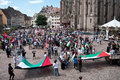 Demonstration for peace between israel and palestine against the israeli bombing in gaza mulhouse france august Royalty Free Stock Image