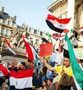 Demonstration to support the Syrian revolution Stock Images