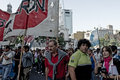 Demonstrations in Buenos Aires Stock Photo