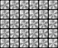 Den abstrakt uppsättningen av modernt försilvrar alfabet märker Royaltyfria Bilder