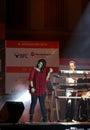 Den indiska sångaren Sunidhi Chauhan utför på Bahrain Royaltyfria Foton