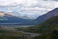 Denali park landscape view of alaska s national Stock Photo
