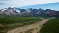 Denali s polychrome pass view of in alaska national park Royalty Free Stock Images