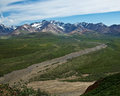 Denali s polychrome pass view of in alaska national park Royalty Free Stock Photos