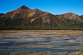 Denali s teklanika river in autumn view of national park Royalty Free Stock Photography
