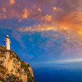 Denia javea san antonio cape mediterranean lighthouse in alicante province spain Stock Photos