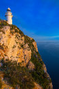 Denia javea san antonio cape mediterranean lighthouse in alicante province spain Royalty Free Stock Image