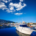 Denia marina boats in alicante valencia province spain of Stock Photo