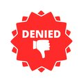 Denied button sign icon Royalty Free Stock Photo