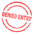 Denied Entry Ink Stamp Royalty Free Stock Photo