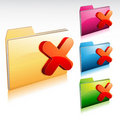 Denied Folder Icon Stock Photo