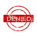 Denied ink stamp (vector) Royalty Free Stock Photo