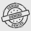Denied rubber stamp isolated on white background. Royalty Free Stock Photo
