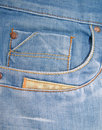 Denim Blue Jeans Coin Pocket Stock Image