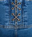 Denim corset Royalty Free Stock Image