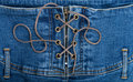 Denim corset Royalty Free Stock Photos