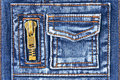 Denim fabric with pocket and zipper Stock Photography