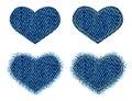 Denim heart patch.