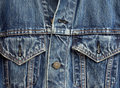 Denim jacket detail Royalty Free Stock Photo