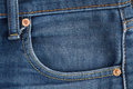 Denim jean pocket Seam Royalty Free Stock Photo