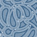 Denim paisley blue