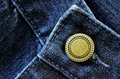 Denim Pants Button Royalty Free Stock Photos