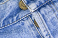 Denim pants buttons close up woven blue jeans detail Stock Photos