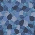 Denim pattern collage seamless texture