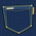 Denim pocket Royalty Free Stock Photo