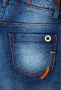 Denim with pocket close up blue and button Royalty Free Stock Images