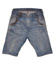 Denim shorts are on white background Royalty Free Stock Photos