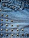 Denim studs close up Stock Photography